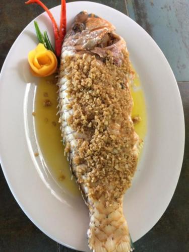 Baked Fish with Butter Garlic Sauce